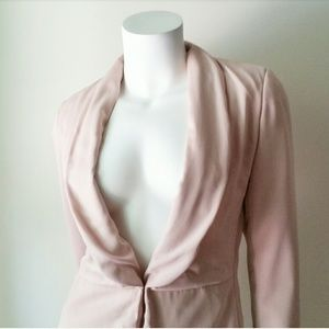 Katherine Barclay Pink Blush Dress Blazer Jacket